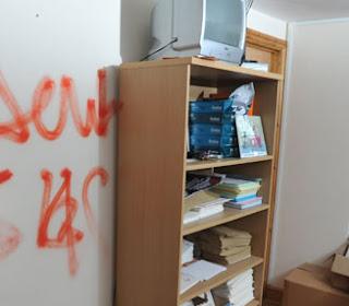 s4c graffiti in tory office