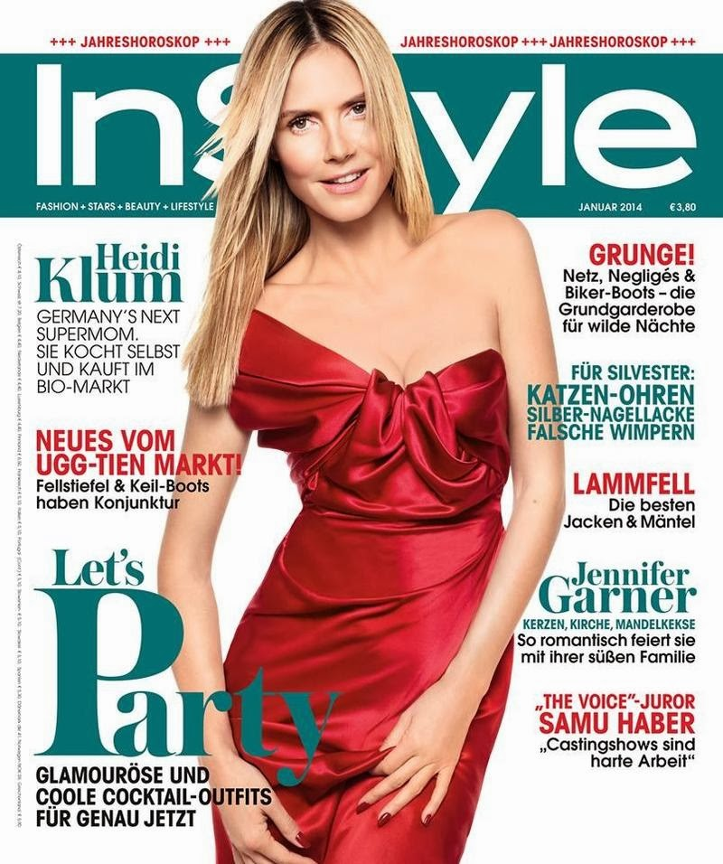 Magazine Cover : Heidi Klum Magazine Photoshoot Pics on InStyle Magazine Germany January 2014 Issue