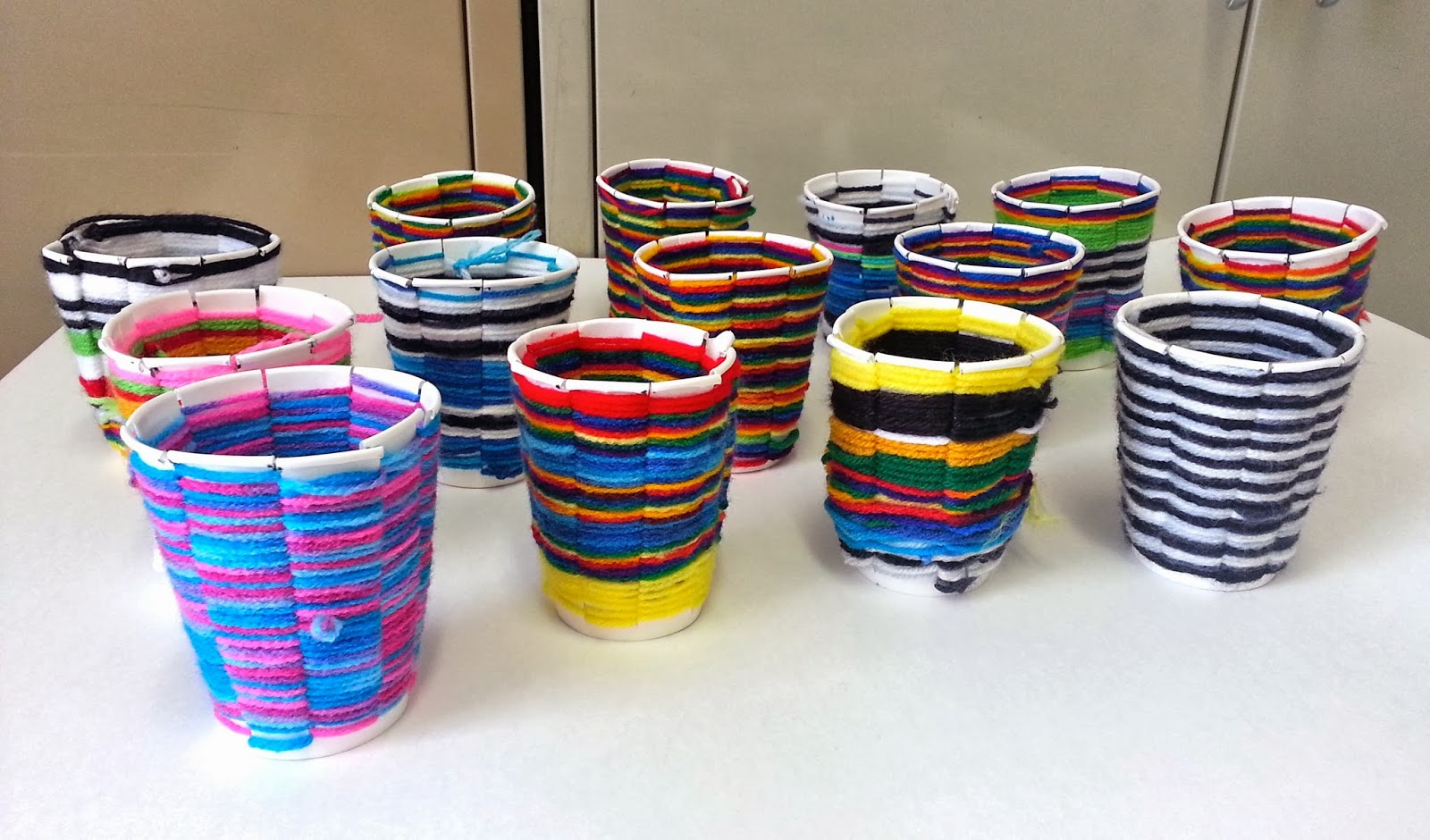 Basket Weaving Using A Paper Cup : Art with mrs nguyen cup weaving th