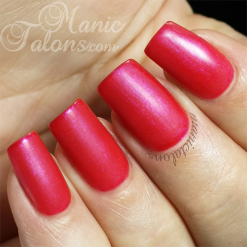 NSI Polish Pro Matte Top Coat over Flirt