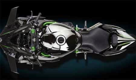 Kawasaki Ninja H2 Tampak Atas