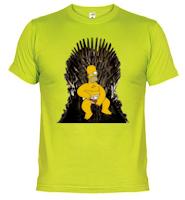 Camiseta homer simpson en el trono de hierro - Juego de Tronos en los siete reinos