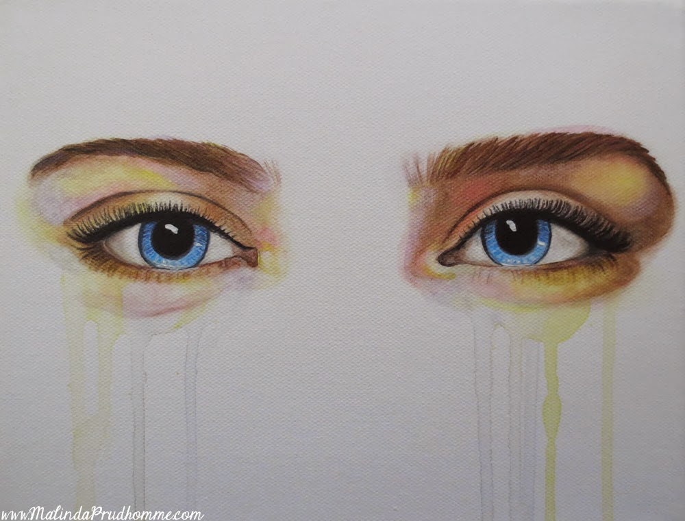 eyes of ice, custom eye painting, eye painting, eyes, blue eyes, original artwork, original paintings, mixed media art, mixed media artist, toronto artist, custom painting, colourful skin tone