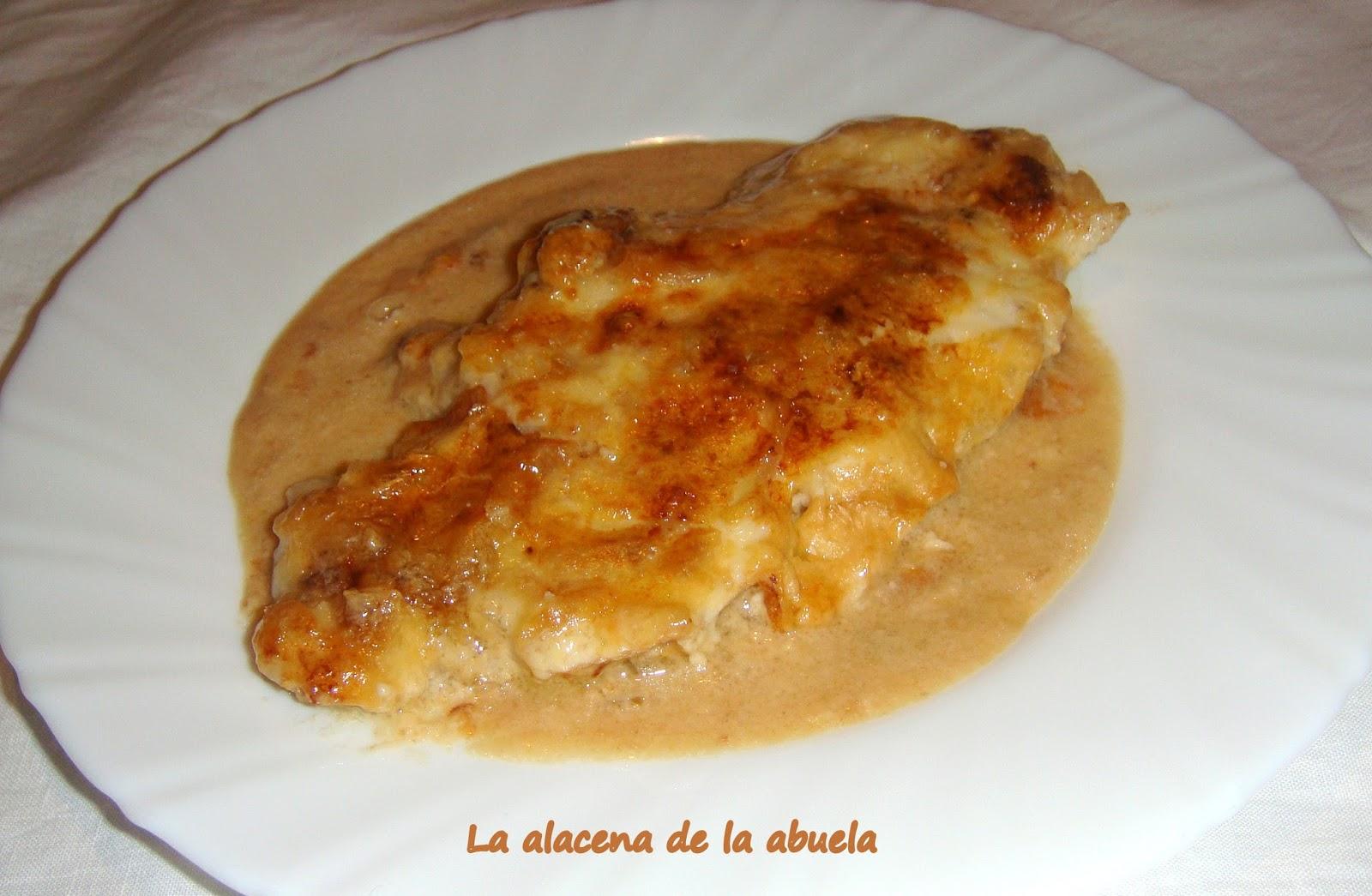 La alacena de la abuela carmen pechugas de pollo con sopa for Cocina casera de la abuela