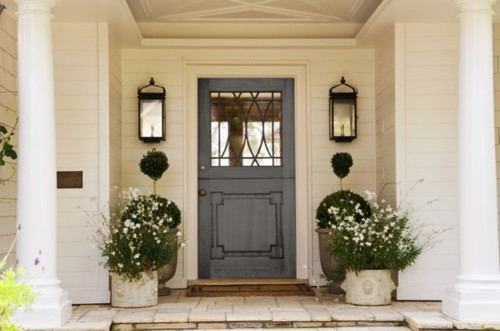 Front Door Inspiration. & A Flair for Vintage Decor: Front Door Inspiration...