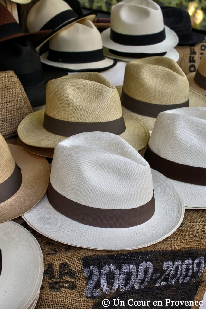 Panama hats in Saint-Tropez