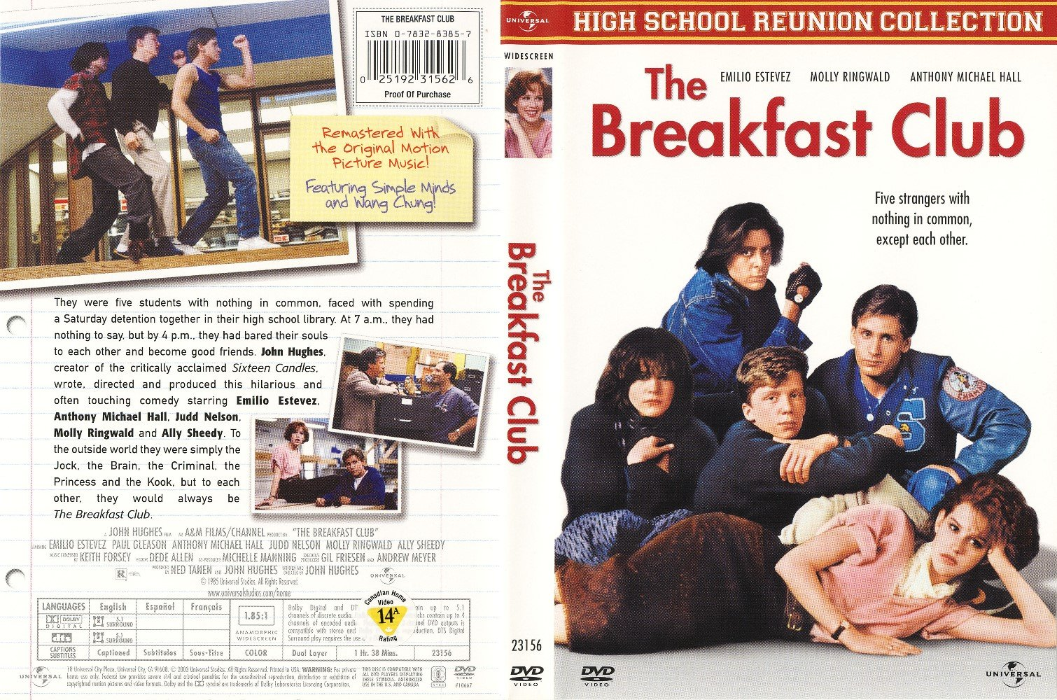 Capa DVD The Breakfast Club