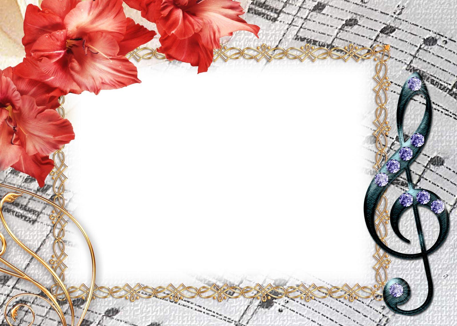 Рамки для открыток музыкальных