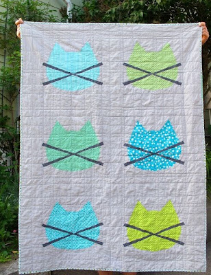 Whiskers Baby Quilt on Six White Horses