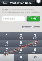 WeChat verivication code