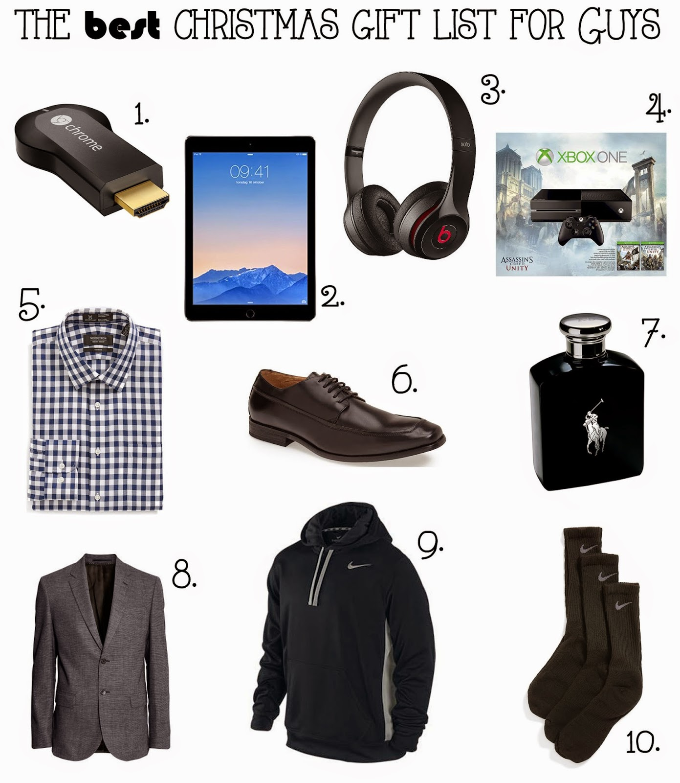 the best christmas gift list for guys