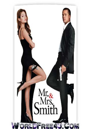 Poster Of Mr. & Mrs. Smith In Dual Audio Hindi English 300MB Compressed Small Size Pc Movie Free Download Only At cintapk.com