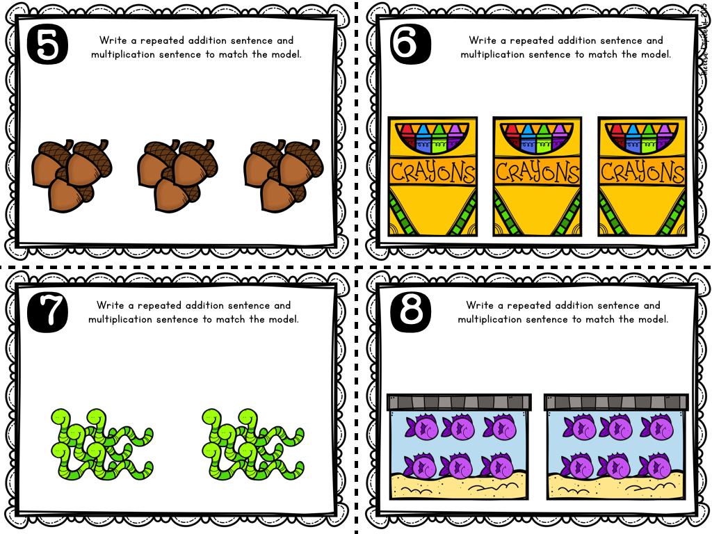 Array worksheets for grade 2