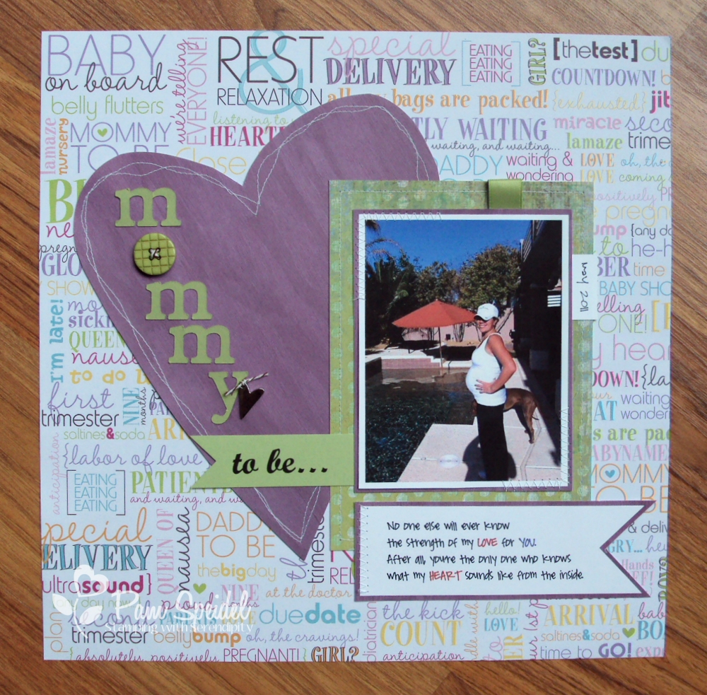 Stamping With Serendipity Mommy To Be Daddys Sunshine Scrapbook