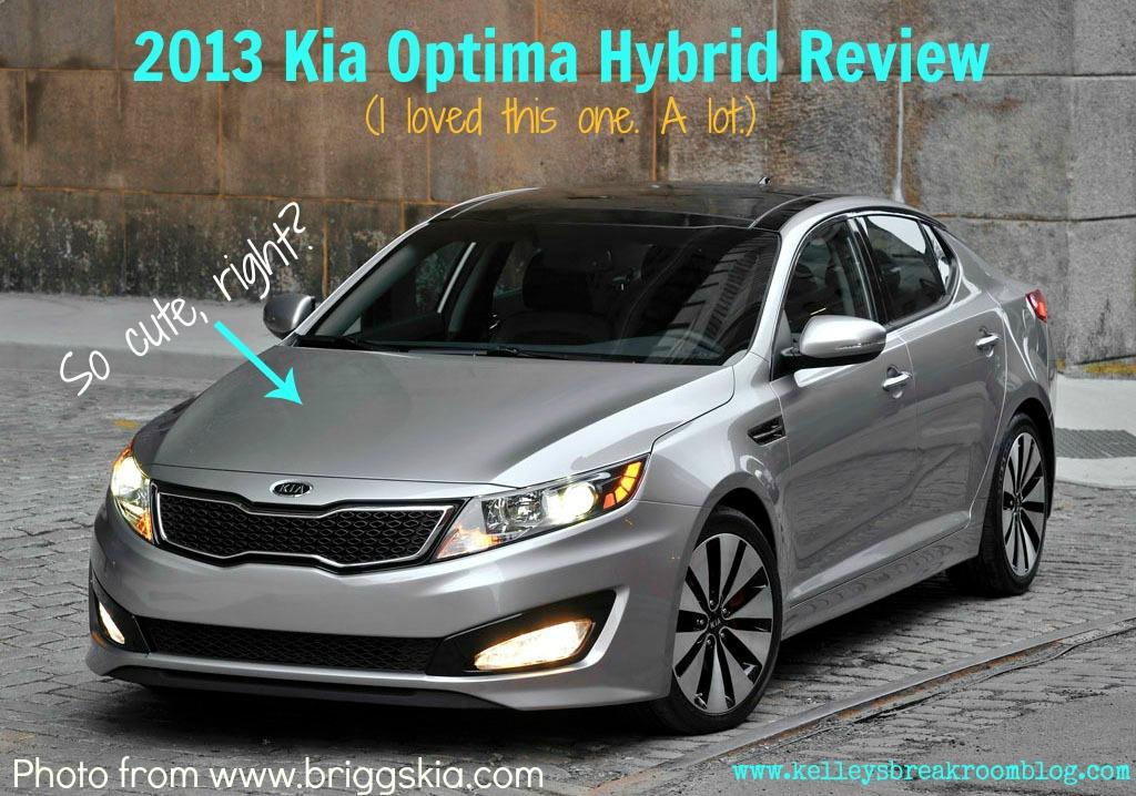 This Is The 2013 Kia Optima Hybrid.