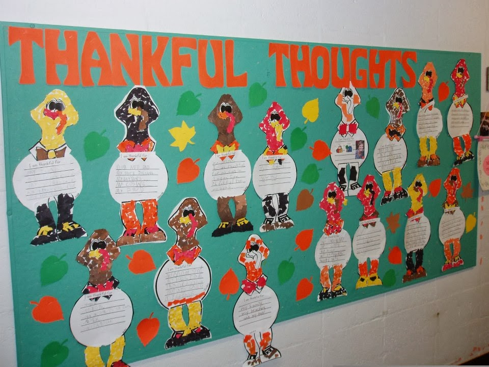 Crafty In The Classroom Thanksgiving Bulletin Board