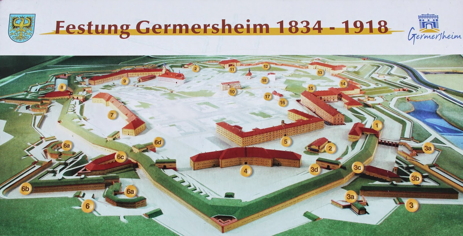 Germersheim Fortress Map