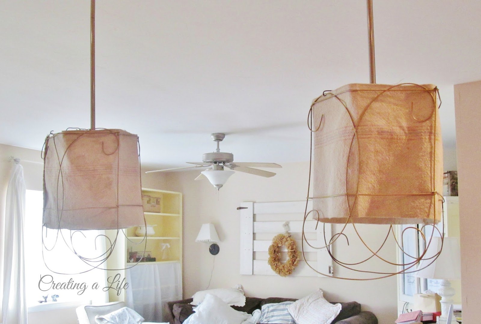 Creating A Life Rustic Farmhouse Style Pendant Light Shades