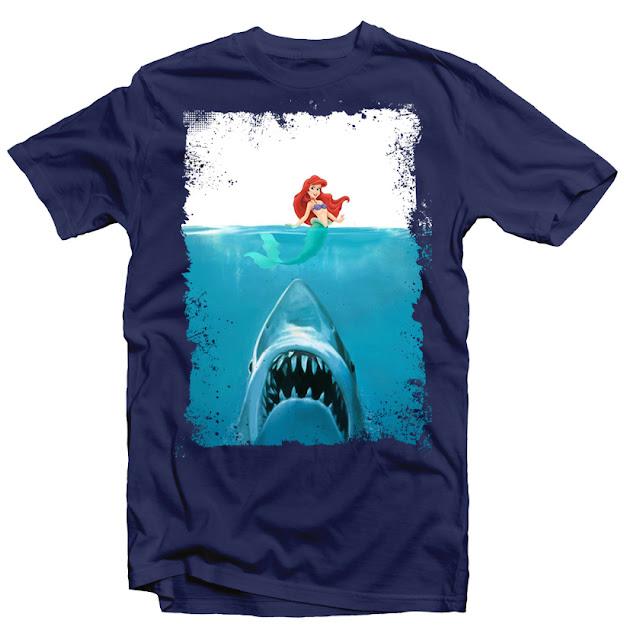 jaws mermaid tshirt design