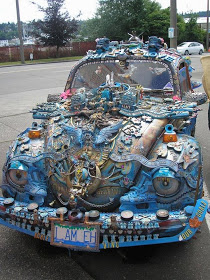 A well decorated car