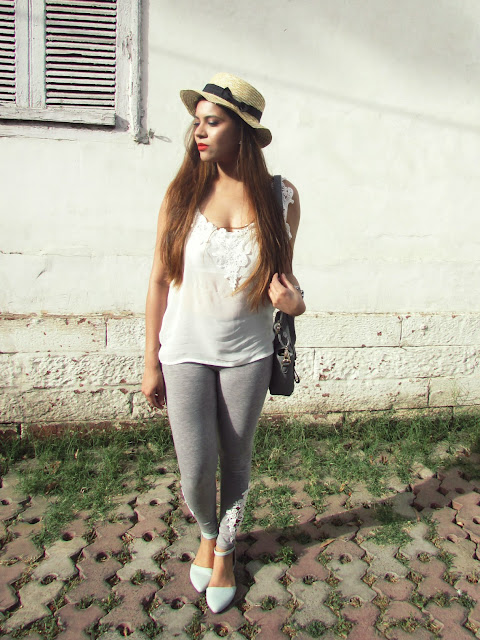 Tourist outfit, summer sun hat, fashion, summer fashion 2015, lace spaghetti, comfy summer outfit, lace leggings, how to style sun hat, hat with now, straw hat, white lace spaghetti, grey leggings, travelling outfit, how to style lace leggings, how to style sun hats , how to style straw hat,  Elegant chic outfit, how to style lace spaghetti,high waisted skirt, black bodycon skirt, Kim kardashian inspired outfit, side wrap around skirt, white lace top, Indian fashion blog, fashion, summer trends 2015, summer fashion, how style white lace top, how to style high waist skirt, monochromatic outfit, bodycon skirt lace top, Kim kardashian high waist skirt, Kim kardashian crop top high waist skirt,beauty , fashion,beauty and fashion,beauty blog, fashion blog , indian beauty blog,indian fashion blog, beauty and fashion blog, indian beauty and fashion blog, indian bloggers, indian beauty bloggers, indian fashion bloggers,indian bloggers online, top 10 indian bloggers, top indian bloggers,top 10 fashion bloggers, indian bloggers on blogspot,home remedies, how to