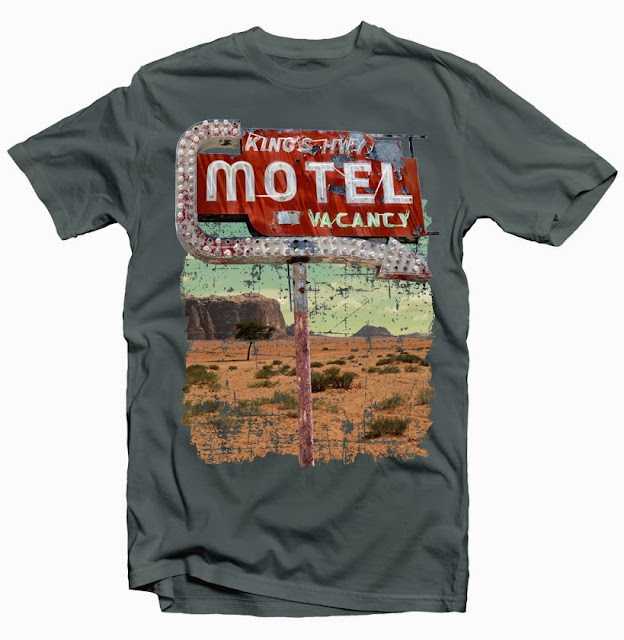motel sign tshirt design