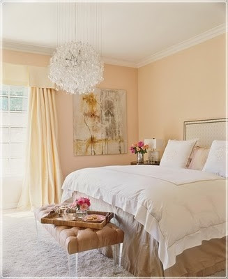 Elegant gold living room furniture trend home design and - Peach color paint bedroom ...