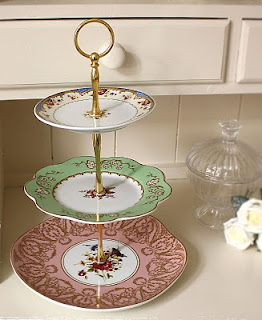 Cake Stand Made from Odd plates