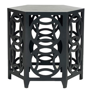 Zinc Door Natanya Charcoal Gray Side Table