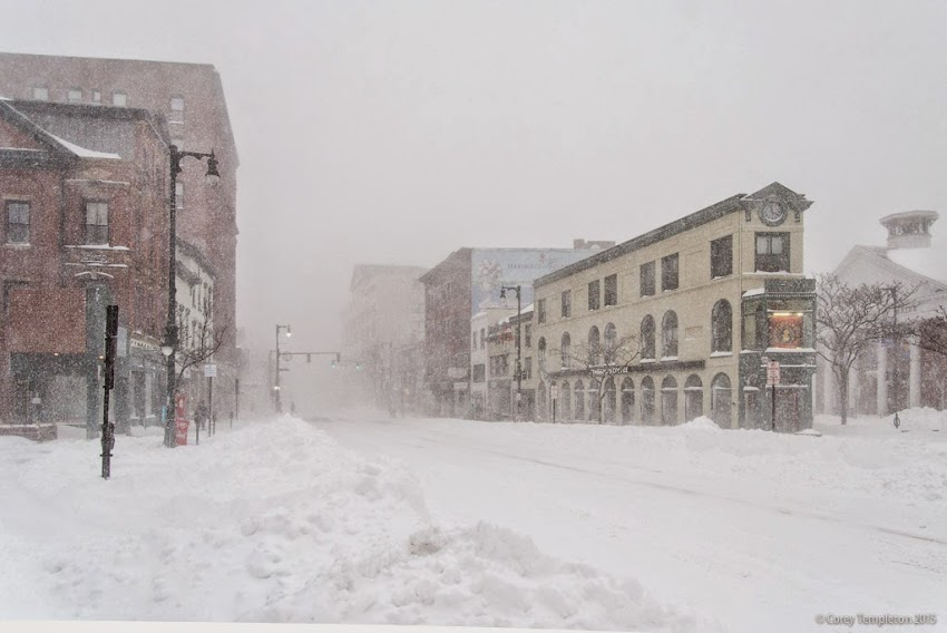 Portland, Maine Blizzard Juno January 27, 2015 Congress Square photo by Corey Templeton