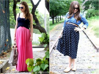 Roupas de verão para grávidas - Vestidos - Saias