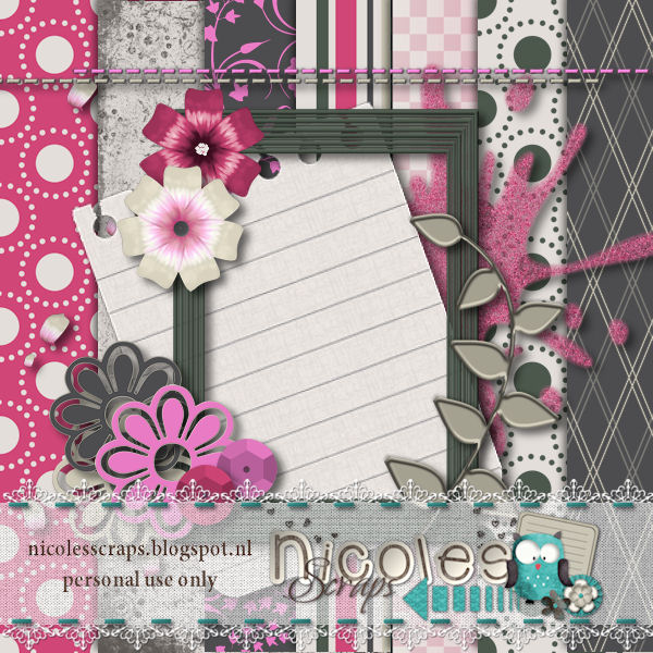 "Free scrapbook collab ""True Colors"" from Nicole's scrap"