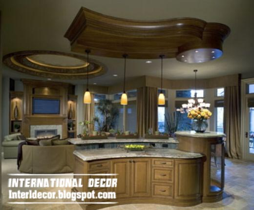 Luxury Kitchen Ceiling Design, Wood False Ceiling For Kitchens
