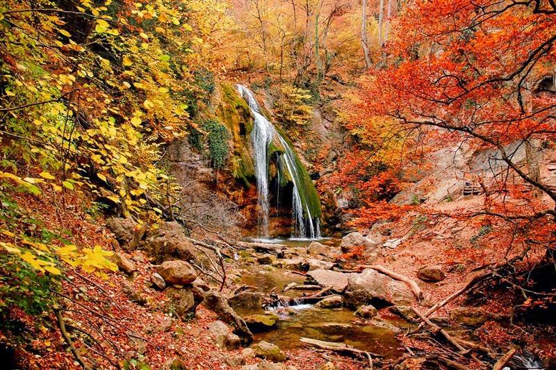 Dzhur-Dzhur waterfall in Crimea, Ukraine.