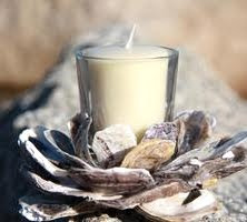 oyster shell votive holder