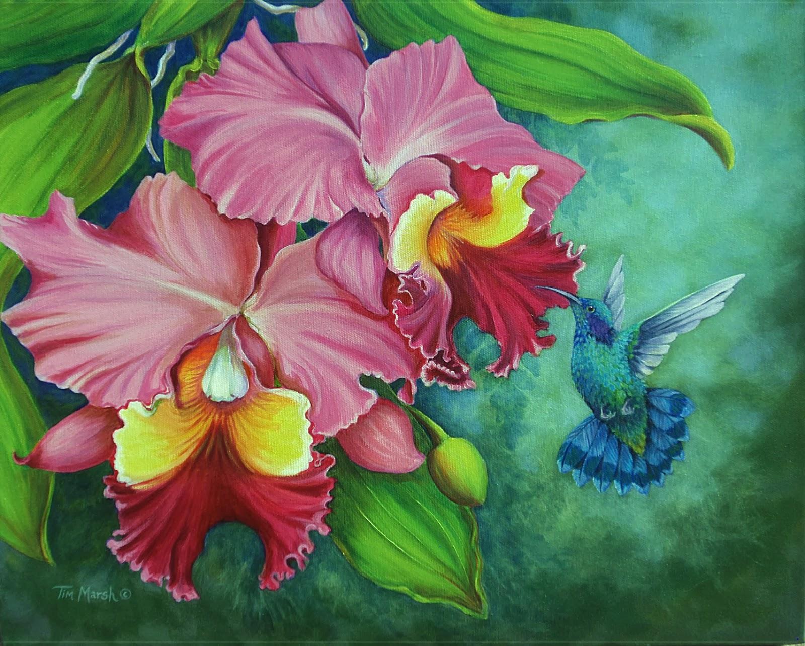 Tim Marsh Nature Artist New Painting