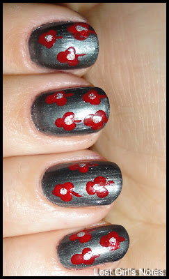 flower nail art manicure