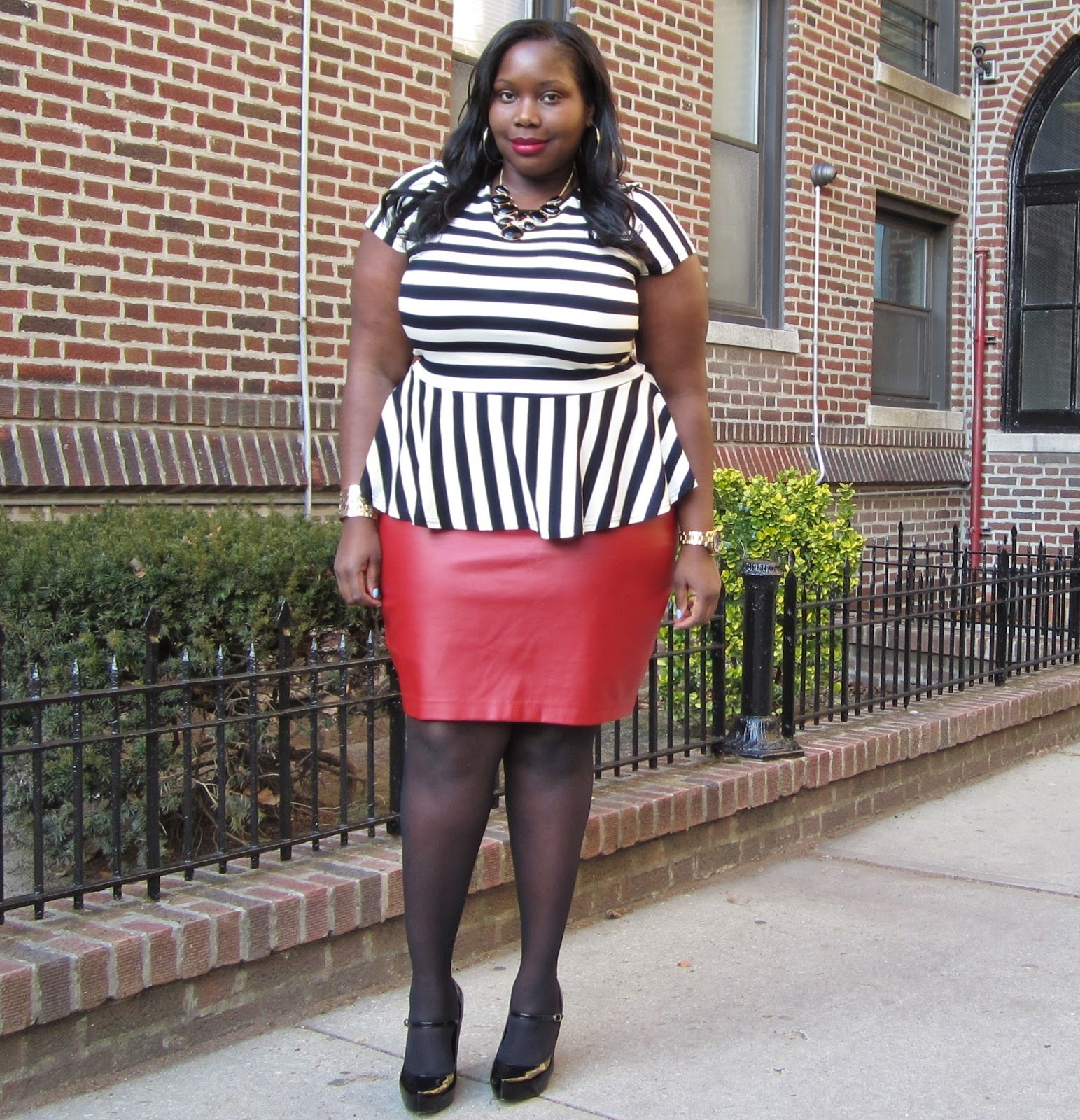 A PLUS SIZE STYLE JOURNEY: BOLD STRIPES | Stylish Curves