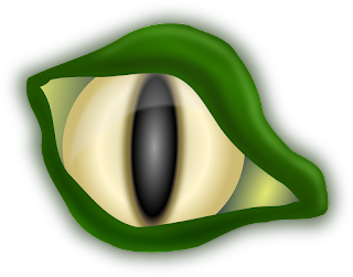 A reptilian monster's eye.