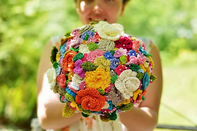 free crochet pattern wedding bouquet