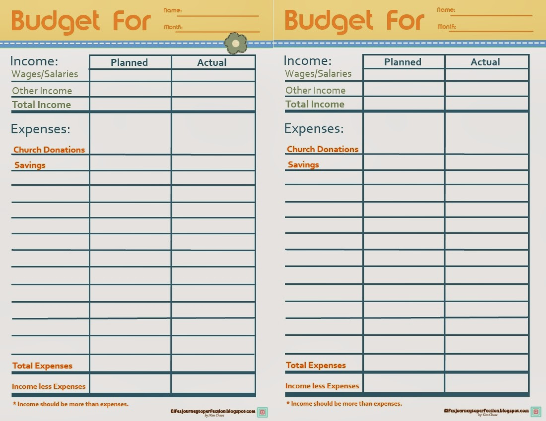 Lds family budget worksheet pdf