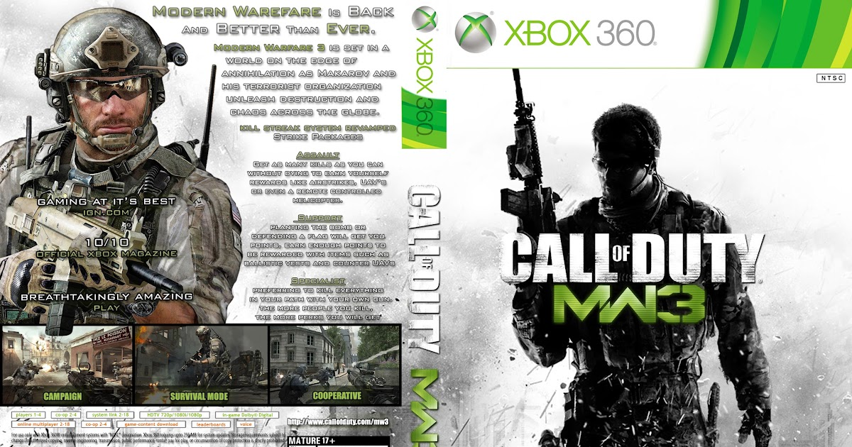 Call of duty mw3 cover