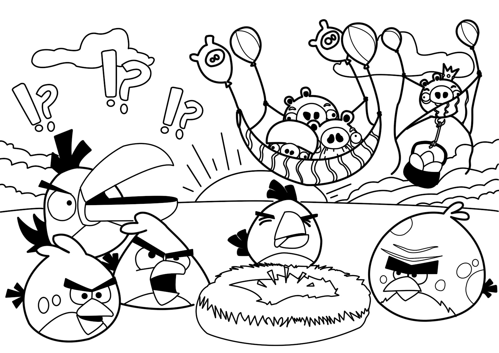 Coloring Book Angry Birds : Kids under angry birds coloring pages for