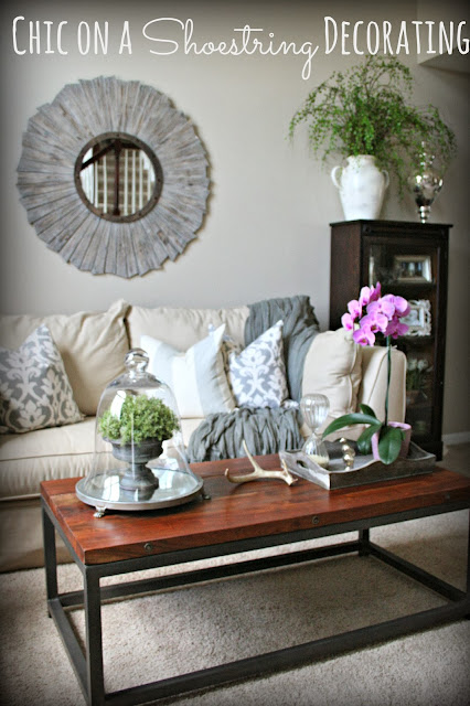 Budget Living Room Makeover, Going Gray at Chic on a Shoestring Decorating
