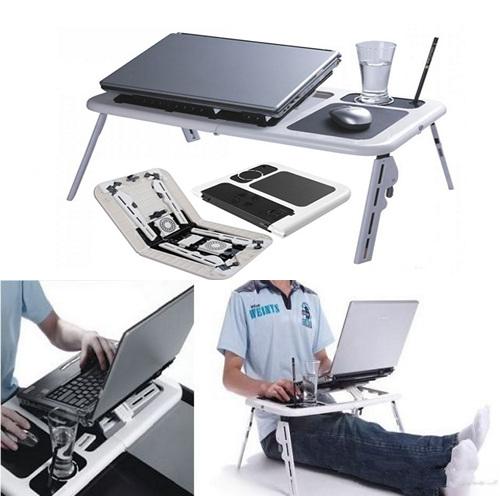 Mesa plegable para ordenador portatil netbook usar en cama for Mesa plegable para ordenador