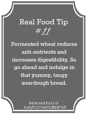 real food tip 11 - sourdough bread | suzyhomemaker.net