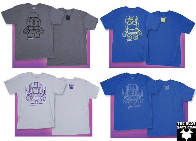 The Loyal Subjects x Transformers T-Shirt Collection Series 1 - Megatron, Soundwave, Starscream & Thundercracker