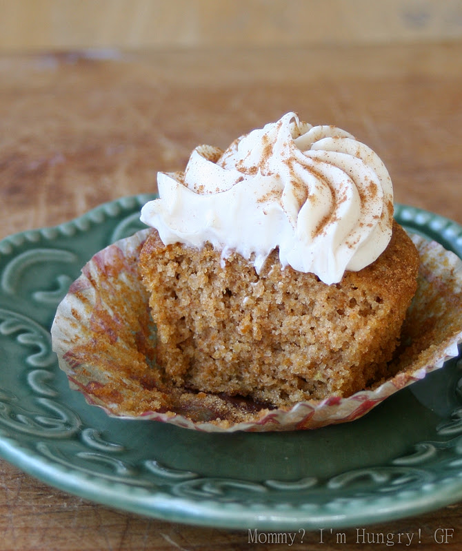 MIH Recipe Blog: Cream Cheese Frosted Pumpkin Cupcakes {Gluten Free}