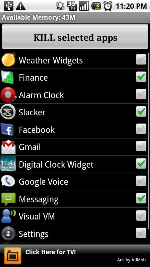 android apps advanced task killer app. Black Bedroom Furniture Sets. Home Design Ideas