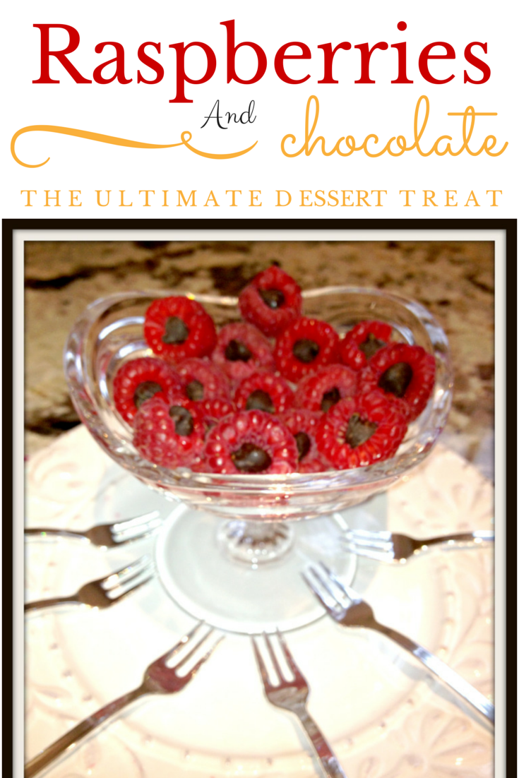 raspberries and chocolate chips